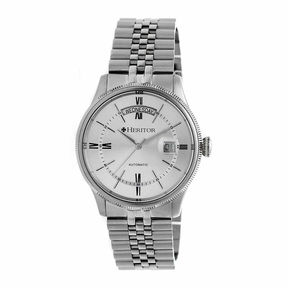 Heritor Vernon Mens Silver Tone Bracelet Watch-Herhr5801