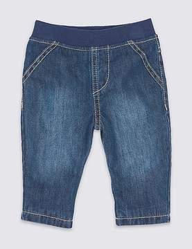Marks and Spencer Pure Cotton Pull-on Jeans