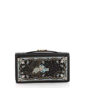 Christian Dior Black Leather Clutch Bag