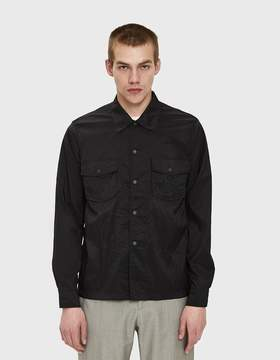 Our Legacy Chamois Shirt in Black Parachute Nylon