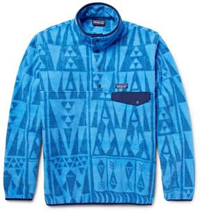 Patagonia Snap-T Printed Synchilla Fleece Sweatshirt