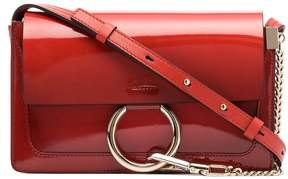 Chloé red Faye small patent leather shoulder bag