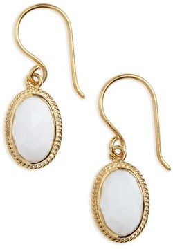 Anna Beck Women's White Opal Drop Earrings