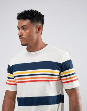 Pull&Bear Striped T-Shirt In White