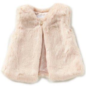 Edgehill Collection Baby Girls 3-24 Months Faux-Fur Vest