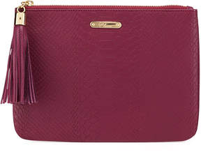 GiGi New York All-In-One Snake-Embossed Clutch Bag, Mulberry