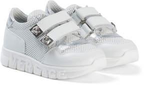 Versace White Medusa Branded Velcro Trainers