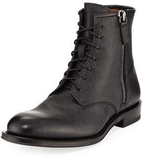 Aquatalia Victor Pebbled Leather Lace-Up Boot