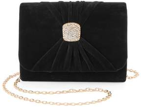 La Regale Lenore By Lenore by Ruched Velvet Brooch Clutch