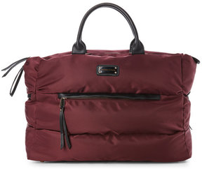 Adrienne Vittadini Burgundy Quilted Duffel