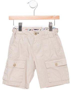 Paul Smith Boys' Plaid-Trimmed Cargo Shorts