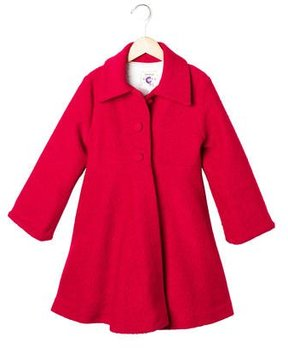 Helena Girls' Bouclé Knit Dress Coat