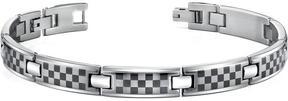 Ice Stainless Steel Bracelet with Laser ChessBoard Pattern for Men