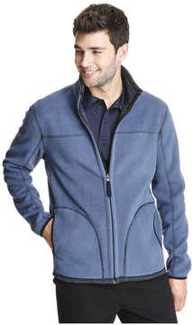 Joe Fresh Men's Reversible Fleece Active Jacket, JF Midnight Blue (Size S)