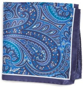 BOSS Men's Paisley Silk Pocket Square