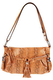 B. Makowsky Leather East/West Convertible Crossbody Bag
