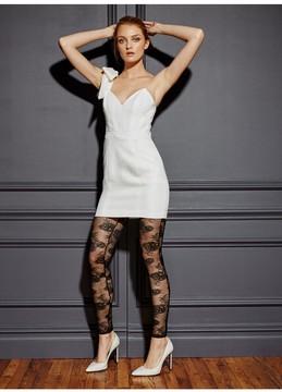 Fleur Du Mal One Shoulder Tie Mini Dress
