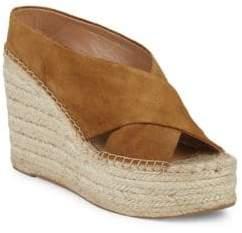 Sigerson Morrison Atifa Suede Espadrille Platform Sandals