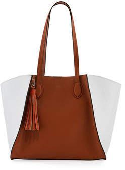 Neiman Marcus Major Colorblock Faux Tote Bag
