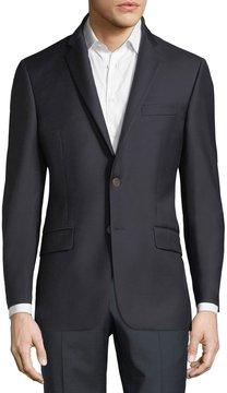 Hickey Freeman Single-Breasted Wool Sport Coat, Navy