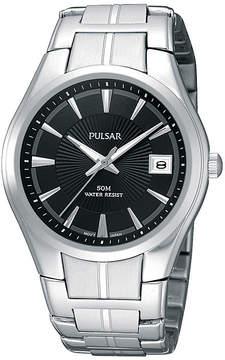 Pulsar Mens Black Dial Stainless Steel Bracelet Watch PXH913