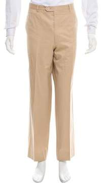 Luciano Barbera Flat Front Relaxed Fit Pants