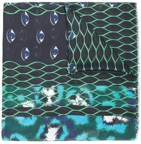 Kenzo multi icon scarf