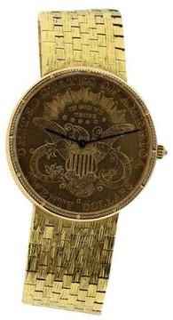 Corum $20 18K Yellow Gold 35mm Watch