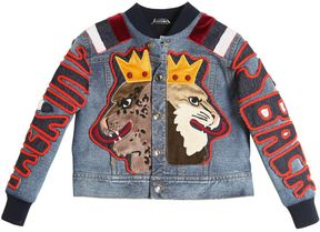 Dolce & Gabbana Denim Effect Cotton Jacket