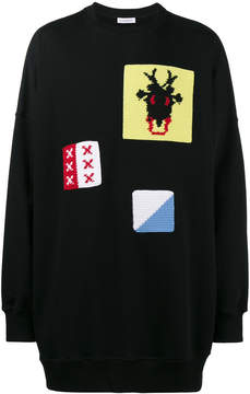 J.W.Anderson oversized crochet embellished sweater