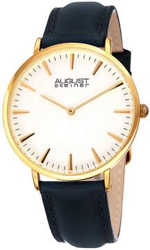 August Steiner Womens Gold Tone Strap Watch-As-8247ygbu