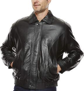 Asstd National Brand Vintage Leather Pig Leather Bomber Jacket