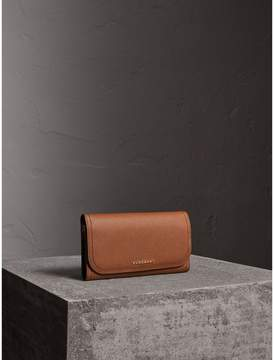 Burberry Two-tone Leather Continental Wallet and Coin Case - BRIGHT TOFFEE/ MULTI - STYLE