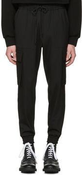 Juun.J Black Drawstring Cargo Trousers