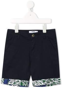 MSGM printed hems shorts