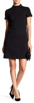 Betsey Johnson Mock Neck Raised Dot Knit Shift Dress