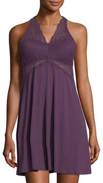 Fleurt Fleur't City Lights Lace-Trim Chemise