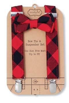 Mud Pie Bow Tie Suspender Set