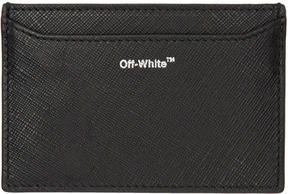 Off-White Black Small Diagonal Card Holder