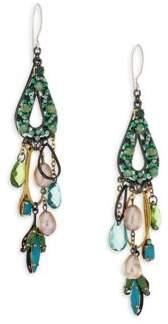 Erickson Beamon Emerald City Crystal Drop Earrings