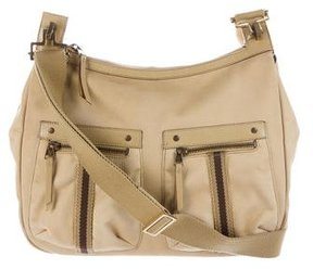 Gucci Canvas Web Shoulder Bag - BROWN - STYLE