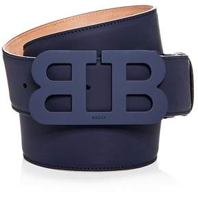 Bally Tonal Matte Buckle Leather Belt