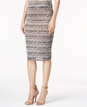 Bar III Jacquard Pencil Skirt, Created for Macy's