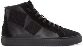 Marcelo Burlon County of Milan Black Patch High-Top Sneakers