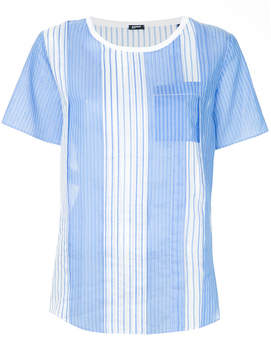Jil Sander Navy striped relaxed-fit T-shirt