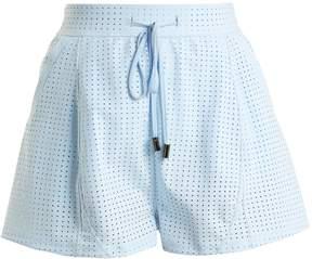 Charli COHEN Optics perforated performance shorts