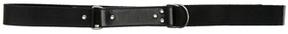 Saint Laurent Oval Monogramme Belt in Black.