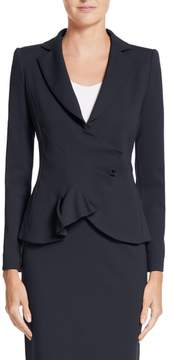 Emporio Armani Asymmetrical Pleated Front Jacket