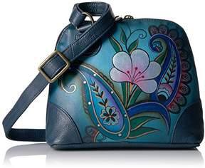 Anuschka Anna by Women's Genuine Leather Small Zip-Around Handbag | Multi Compartment Organizer |Fall Bouquet