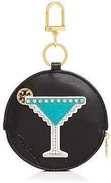 Tory Burch Martini Leather Coin Case - ANISE/GOLD - STYLE